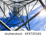 the electricity transmission... | Shutterstock . vector #693735181