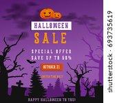 halloween sale poster. eps 10... | Shutterstock .eps vector #693735619
