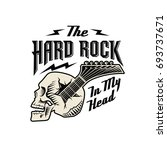 skull guitar  hard rock in my...   Shutterstock . vector #693737671
