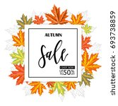 autumn sale. fall season sale... | Shutterstock .eps vector #693738859