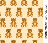 toy bear  seamless pattern... | Shutterstock .eps vector #693739261