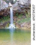 drimonas waterfall  euboea ... | Shutterstock . vector #693739357