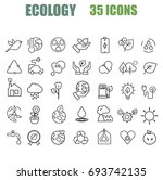 ecology web icons | Shutterstock .eps vector #693742135