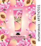 hand cream  skincare  beauty... | Shutterstock .eps vector #693747031