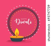 happy diwali  vector... | Shutterstock .eps vector #693747739