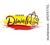 happy diwali wallpaper design... | Shutterstock .eps vector #693747751