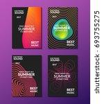 electronic music poster. modern ... | Shutterstock .eps vector #693755275