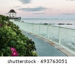 cliff walk newport rhode island | Shutterstock . vector #693763051