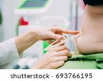close up of medical doctors... | Shutterstock . vector #693766195