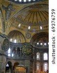 view of hagia sophia dome   Shutterstock . vector #69376759