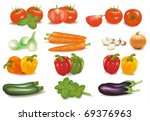 the big colorful collection of... | Shutterstock . vector #69376963