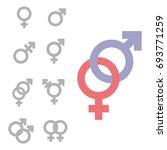 gender symbol set. male female... | Shutterstock .eps vector #693771259
