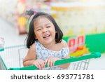 funny little child.little asian ... | Shutterstock . vector #693771781