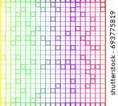 rainbow squares colorful... | Shutterstock .eps vector #693775819