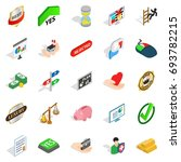 guidance icons set. isometric... | Shutterstock .eps vector #693782215