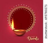 happy diwali wallpaper design... | Shutterstock .eps vector #693783271