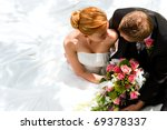Wedding Couple Hugging  The...