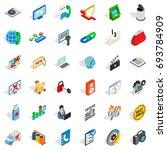 www management icons set.... | Shutterstock .eps vector #693784909