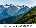 glaciers make their way... | Shutterstock . vector #693787321