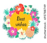 best wishes greeting card with... | Shutterstock .eps vector #693788749