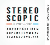 stereoscopic alphabet   number... | Shutterstock .eps vector #693789079