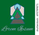 geometrical line logotype....