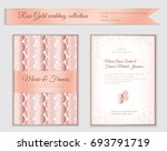 luxury wedding invitation... | Shutterstock .eps vector #693791719