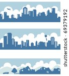 Stock vector town and city 69379192