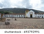 central plaza and church in...   Shutterstock . vector #693792991