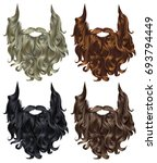 set long curly  beard and... | Shutterstock .eps vector #693794449