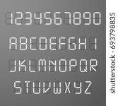digital 3d display time numbers ... | Shutterstock . vector #693798835