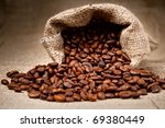 studio shot of coffee beans in... | Shutterstock . vector #69380449