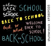 back to school hand drawn... | Shutterstock .eps vector #693809335