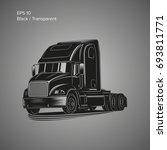modern american truck vector...   Shutterstock .eps vector #693811771