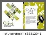 set of templates for olive oil. ... | Shutterstock .eps vector #693812041