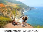 people looking at beautiful... | Shutterstock . vector #693814027