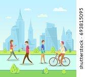 vector illustration of modern... | Shutterstock .eps vector #693815095