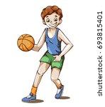 vector illustration of a boy... | Shutterstock .eps vector #693815401