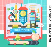 back to school banner with book