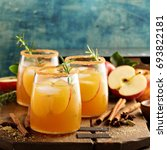 hard apple cider cocktail with... | Shutterstock . vector #693822181