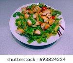 chicken salad | Shutterstock . vector #693824224