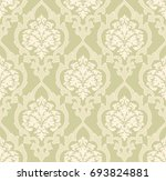 vector damask seamless pattern... | Shutterstock .eps vector #693824881