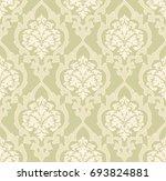 vector damask seamless pattern... | Shutterstock .eps vector #693824881