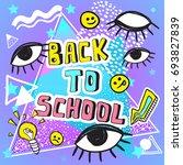 back to school funny vector...   Shutterstock .eps vector #693827839