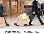 group of people shopping concept