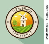 organic farm logo | Shutterstock .eps vector #693833209