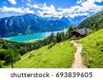 achensee lake in austria - pertisau - stock photo