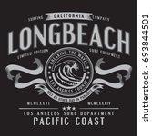 california surf typography  tee ... | Shutterstock .eps vector #693844501