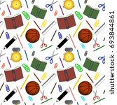 back to school colorful... | Shutterstock . vector #693844861