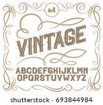 vintage label font. alcogol... | Shutterstock . vector #693844984